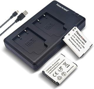 Newmowa EN-EL19 互換バッテリー 2個 + 充電器 対応機種 Nikon Coolpix S32, S33, S100, S2800, S3100, S3200, S3300, S3500, S3600, S4100, S4200...