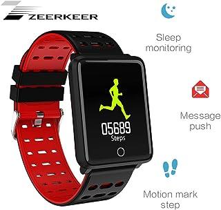 Zeerkeer Bluetooth smartwach Pulsera con Pulsómetro recordatorios Sport Fitness Tracker para Hombre Mujer