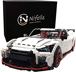 Nifeliz Racing Car GTRR MOC Building Blocks and Engineering Toy, Adult Collectible Model Cars Set to Build, 1:8 Scale Race Car Model (3408 Pcs)