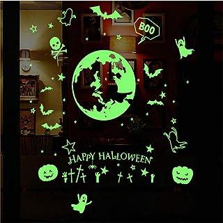 Happy Halloween 3D Adesivi Murali Di Grandi Dimensioni Ornamenti Decorazioni Per Pavimenti In Camera Glow In The Dark Whol...