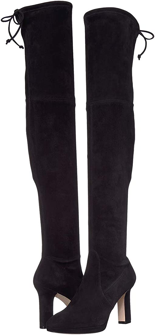 Black Suede Stretch