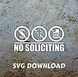 Himanjia No Soliciting Window/Door Sticker SVG Clipart Download
