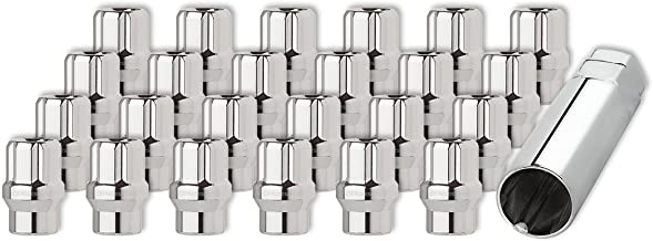 DPAccessories LOE2L6HCSCH04024 24 Chrome 12x1.5 Open End ET Spline Tuner Lug Nuts for Aftermarket Wheels Wheel Lug Nut