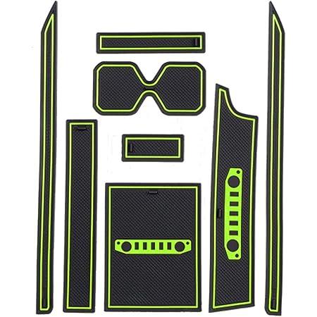 Lfotpp Jimny Sierra Jb64 Jb74 Gummimatten Gummi Matten Antirutschmatten Für Getränkehalter Mittelkonsole Armlehne Türschlitz 8 Stücke Grün Auto