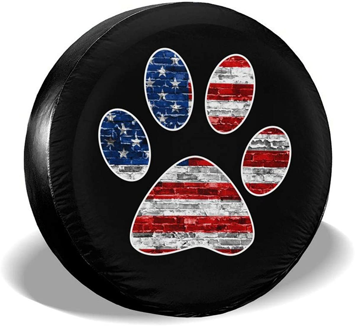 YZ-MAMU American Flag Dog Max 77% OFF Paw Cover Waterproo Tire Spare Printed Max 77% OFF