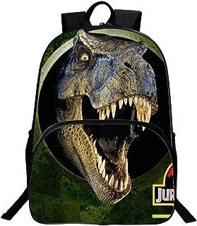 UNILIFE Mochilas para Niños, Jurassic World Dinosaurs Daypacks Impresiones En 3D Unisex para Niñas Adolescentes 20L