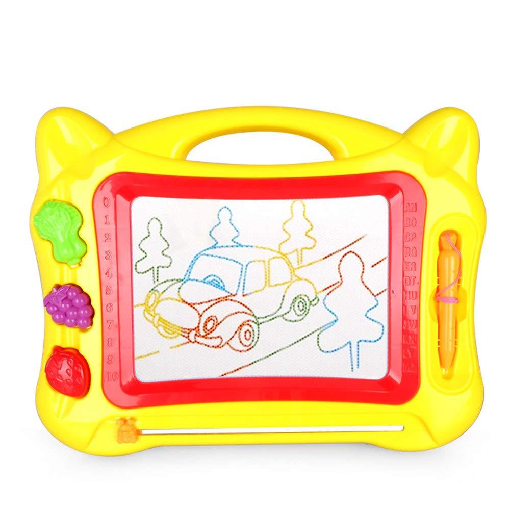 Yangxuelian Tablero de Dibujo para niños Dibujo Juegos de Mesa Juguetes for niños Borrable Colorido Magna Doodle Sketch Tablet Educación Bloc de Notas año Yellow: Amazon.es: Hogar