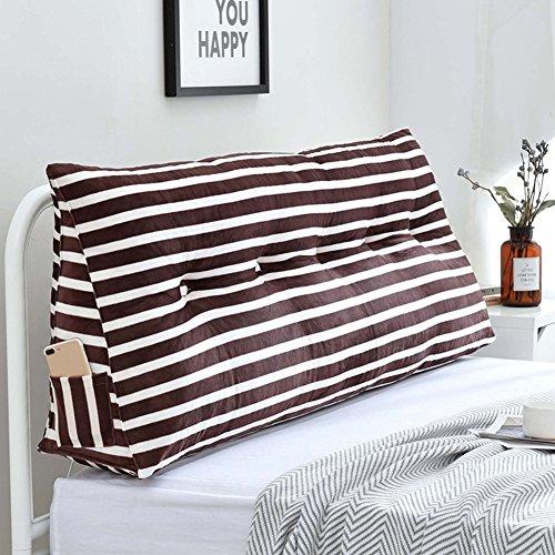 Xuping Dreieckiges Keil-Kopfteil Nachtkissen Doppelbett Rückenlehnenkissen Sofa-Rücken Softtasche, Tuchkunststreifen Weiche Tasche Princess Wind WAIS Pads, 5 Farben, 8 Größen