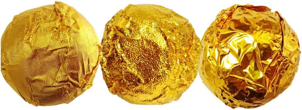 8 x 8 cm dulces para dulces chocolate chocolate papel de envolver dulces bricolaje comida dorada DOITOOL 500 envoltorios de aluminio para chocolate cuadrados