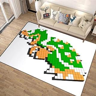 超级马里奥兄弟 Super Mario Bros 地毯 160x200 可洗 夏季用 旗子 时尚 垫子 可洗 防螨 防滑 可折叠 大 - 四季适用-A_140x200cm