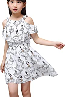 Weixinbuy Kid Baby Girl's Swing Dress Floral Flower A-line Wedding Party Summer Princess Dresses