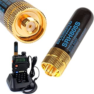 Delleu SRH-805S Antenne double bande SMA-F femelle 4,5 cm pour talkie-walkie UV-5R radio