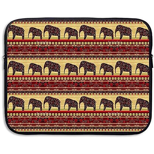 Waterdichte laptopmouwen met olifantenstrepen in Bohemian-stijl.