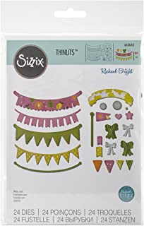 Sizzix 660648 Thinlits Die Set, Banners, Adjustable Length by Rachael Bright, 24/Pack