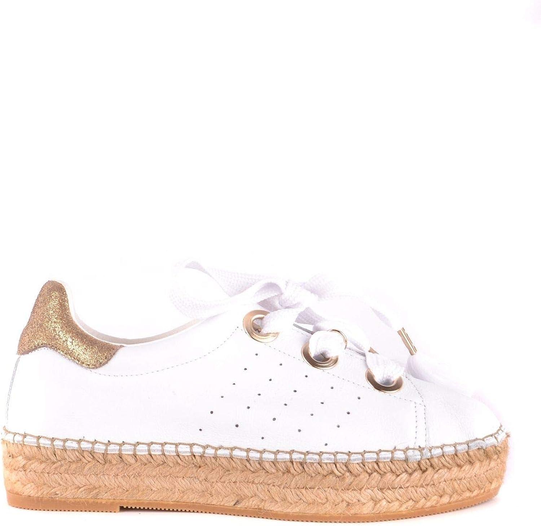 Patrizia Pepe Women's MCBI34882 White Leather Sneakers