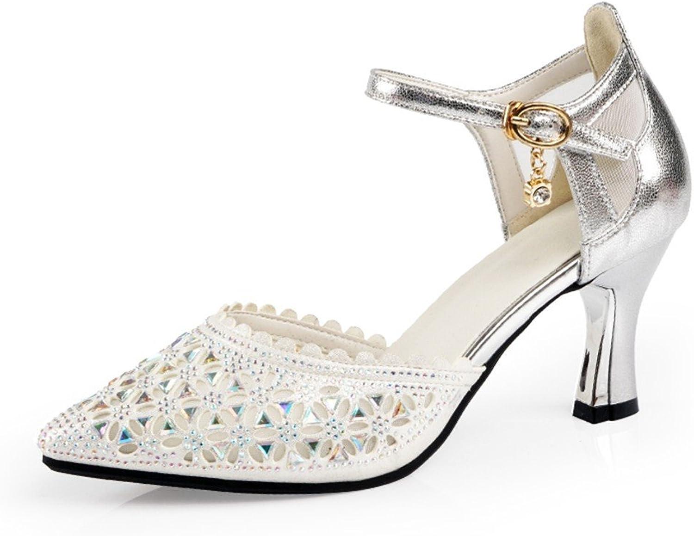 WXMDDN Woherren Latin Latin Latin Dance Schuhe Silber Dance Schuhe bei Erwachsenen mit hochhackigen Schuhen tanzen,E35  303b4c