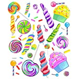 Sweet Candy Wall Decals Sticker Party Decorations Supplies
