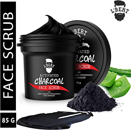 L'BERT Activated Charcoal Face Scrub, 85 g