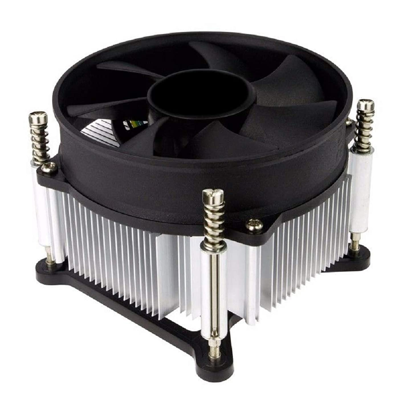 TRONWIRE TW-3 Premium Intel Core i3 / i5 / i7 Socket 1156/1155 / 1151/1150 4-Pin Connector CPU Cooler with Aluminum Heatsink & 3.62-Inch Fan with Pre-Applied Thermal Paste for Desktop PC Computer
