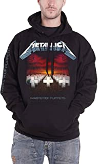 Hoodie Master of Puppets Tracks Official Mens Black Pullover