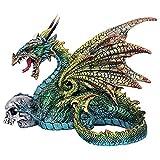 Design Toscano Estatua del dragón de la mascota de Lord Wykeham, todo color