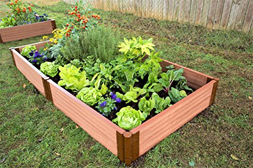 Two Inch Series 4ft. x 8ft. x 11in. Composite Raised Garden Bed Kit