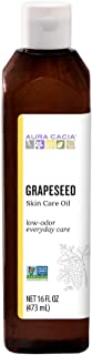 Aura Cacia Grapeseed Skin Care Oil | GC/MS Tested for Purity | 473ml (16 fl. oz.)