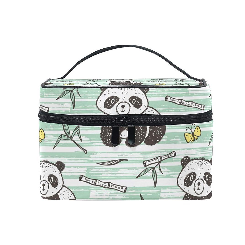 コロニー立法習慣UOOYA パンダ Panda アニマル おしゃれ メイクボックス 大容量 持ち運び メイクポーチ 人気 小物入れ 通学 通勤 旅行用 プレゼント用