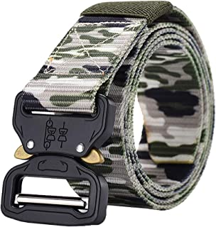 Xiang Ru Nylon Canvas Adjustable Webbing Belt with Quick-Release Buckle for Men