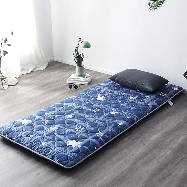Quilted Fitted Floor Futon Mattress Japanese Bed Sleeping Pad Matt Mat Foldable Roll Up -j 100x200cm(39x79inch)