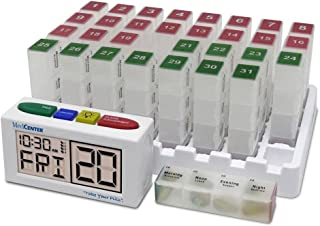 MedCenter Systems Low Profile System 31 Day Organizer with Talking Alarm Clock
