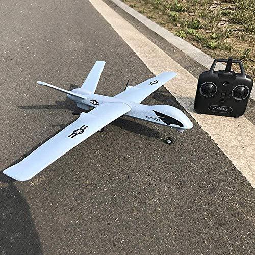 Zhangl 66cm große Fernbedienung Flugzeug hohe Simulations-Predator-Drohne Modell Professionelle 2,4 GHz 2-Kanal-Fernsteuerung Flugzeug-Spielzeug mit Akku Anti-Fallen EPP