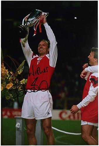 Sportagraphs Steve Bould SIGNED 12x8 Photo Autograph Arsenal Football Memorabilia AFTAL COA