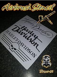 Harley Davidson Airbrush Stencil Motorcycle Tank 3 logos Reusable 9.5