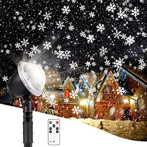 Christmas Projector Lights Outdoor, Flash Snowflakes Projector LED Christmas Lights, Waterproof Projector Decorating Stage Light, Indoor Outdoor Snowfall Holiday Party Garden Landscape Lamp