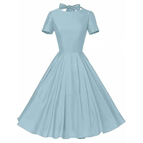 GownTown Womens 1950s Vintage Retro Party Swing Dress Rockabillty Stretchy