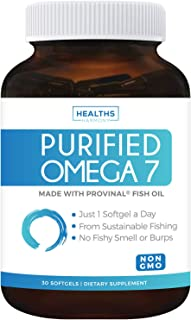 Purified Omega 7 Oil - Provinal Omega 7 (Non-GMO) All The Palmitoleic Acid EE Your Body Needs – Made from Peruvian Anchovy...