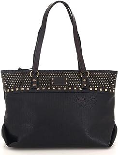 c6ff2ae8ff Fuchsia - Grand sac cabas ethnique avec clous simili cuir femme (f9820-8)