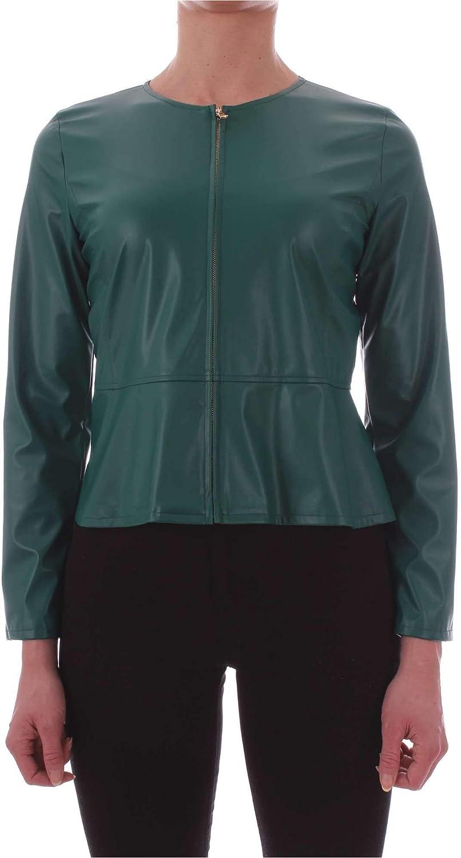 Emme Marella Women's 59110495GREEN Green Leather Jacket