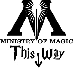 Vog Trends VT 20-01 Ministry of Magic This Way Decal Black 9.5x7.5 inches