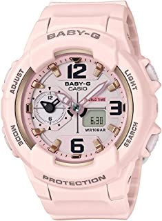 Casio Womens Quartz Watch, Analog-Digital Display and Resin Strap BGA-230SC-4BDR