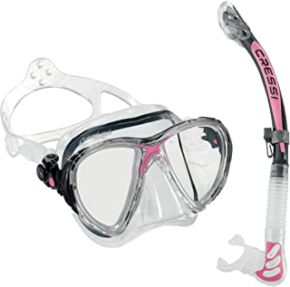 Cressi BIG EYES PREMIUM Mask Dry Snorkel Set, Adult