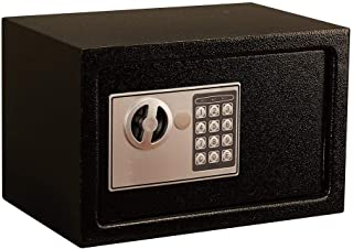 Boxes & Organisers Electronic Password Safe With Anti-theft Key 4 Battery Safety Box For Storing Jewelry Cash Important Fi...