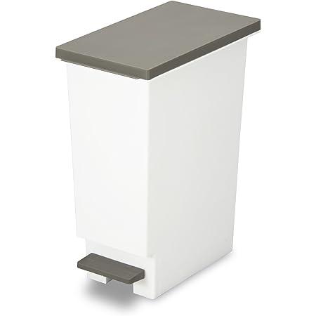 トンボ ゴミ箱 20L 日本製 フタ付き ペダル式 分別 スリム ブラウン ネオカラー 新輝合成