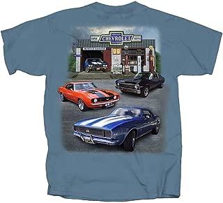 Joe Blow T's 67-71 Chevy Camaro, Nova & Chevelle Muscle Car T-Shirt 100% Cotton Preshrunk -Blue - by