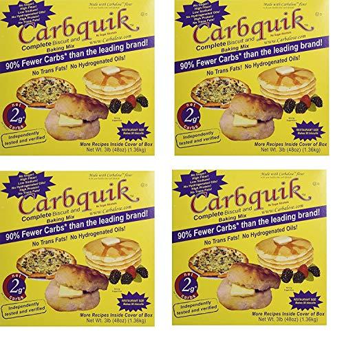 Carbquik Baking Biscuit Mix, REXkiQ 4 Pack (3 lb. box)