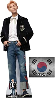 RM Blue Jeans Style from Bangtan Boys Cardboard Cutout/Standup Fan Pack, 180cm x 62cm Includes Free Mini Cutout and 8x10 Star Photo
