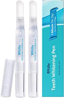 Blitzby Teeth Whitening Pen 2 PEN, Upgraded Formula, More than 30 Uses Effective, Painless, No Sensitivity, Travel-Friendly, Easy To Use, Beautiful White Smile (2 PCS)