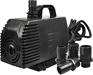 Simple Deluxe LGPUMP1056G 1056 GPH UL Listed Submersible Water Pump with 15' Cord for Fish Tank, Hydroponics, Aquaponics, Fountains, Ponds & Inline, 1-Pack, Black (Renewed)