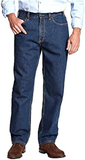 Kirkland Signature Men's Blue Jean Double-Seam Stitching Relaxed fit 42x34